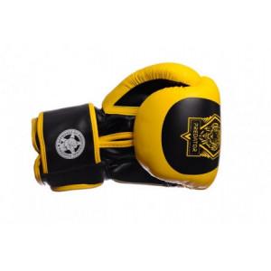 Боксерские перчатки PowerPlay Tiger Series (3003) Yellow 14 oz